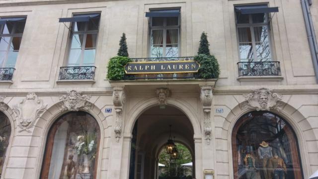 The Ralph Lauren storefront