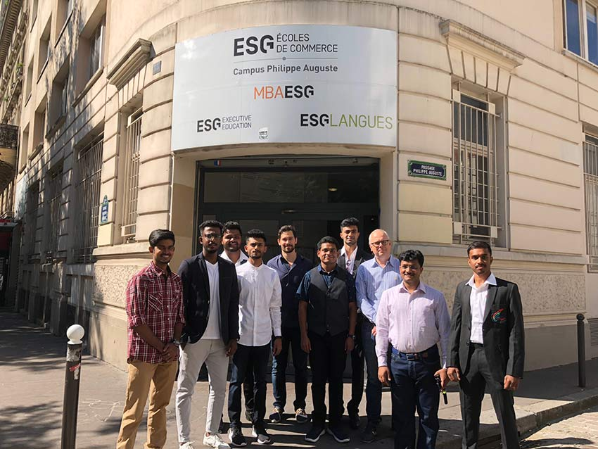 Paris Visit of Students of MBA Sports Management, Bangalore