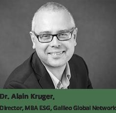 Dr. Alain Kruger, Director, MBA ESG, Galileo Global Network