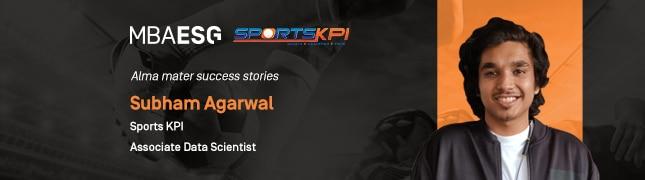 Alma mater success stories-Subham Agarwal